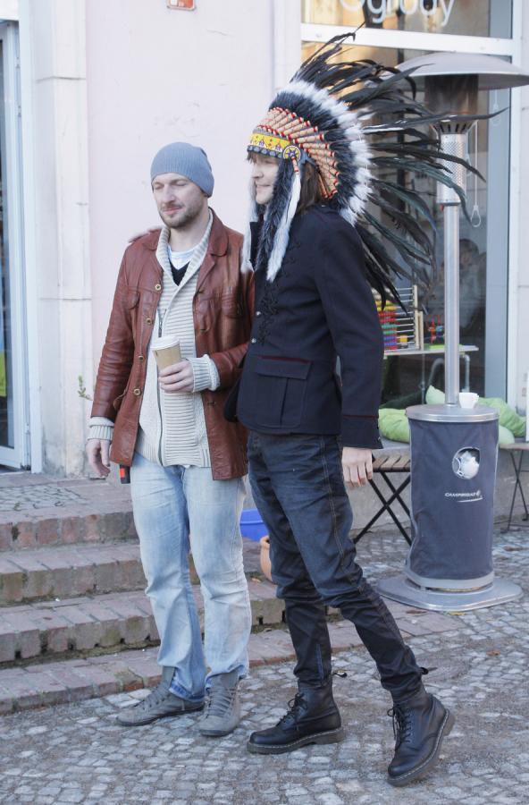 Robert Gawliński i reżyser klipu Roman Przylipiak