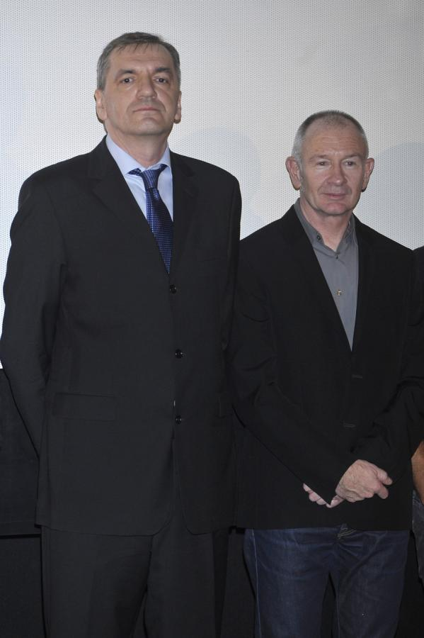 """Władysław Pasikowski i Paweł Edelman na premierze """"Pokłosia"""""""