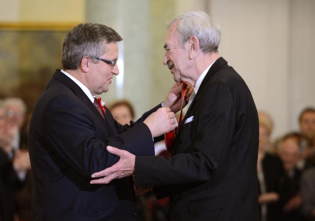 Bronisław Komorowski i Jan Kobuszewski