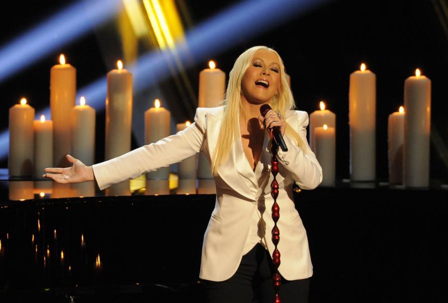 Christina Aguilera podczas gali Peoples Choice Awards