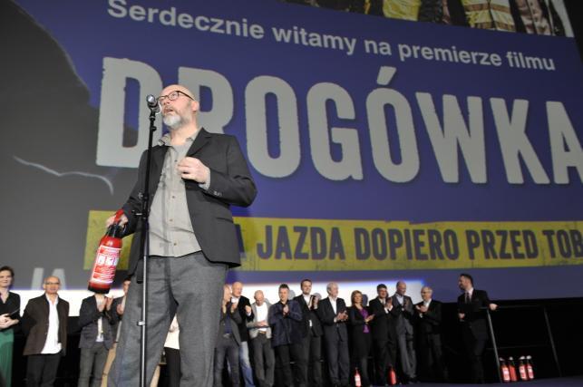 """Wojciech Smarzowski na premierze """"Drogówki"""""""
