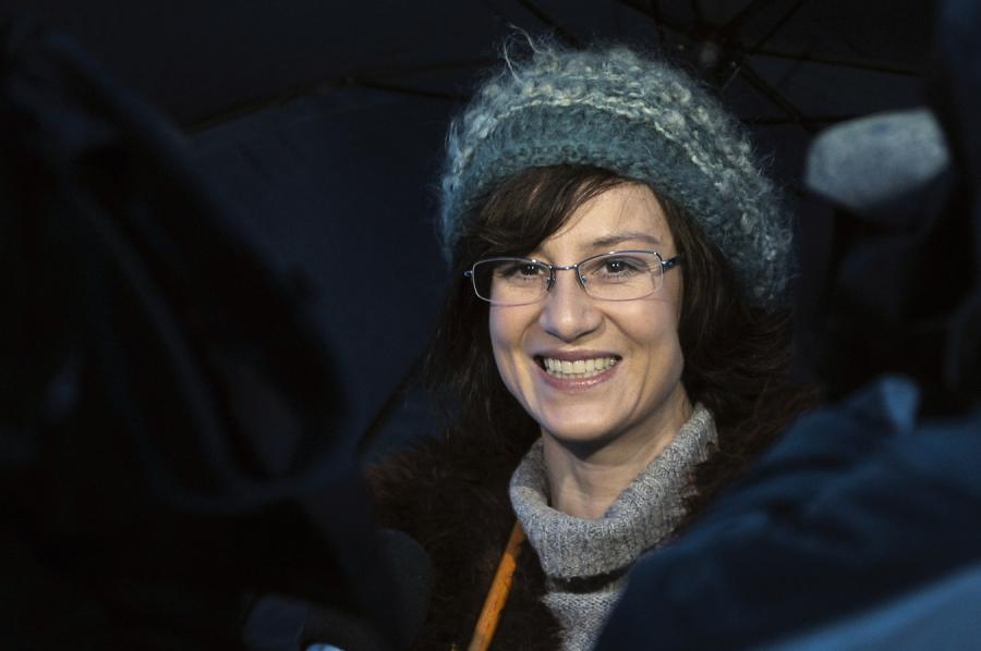 Maja Ostaszewska na planie filmu \