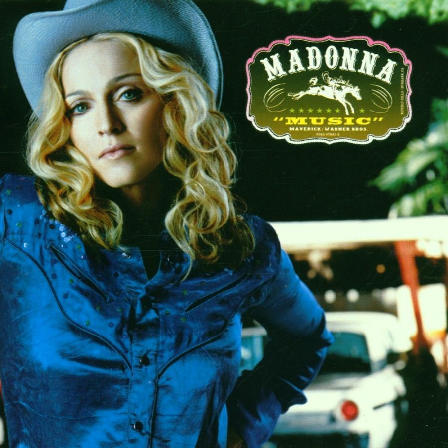 "Madonna na okładce albumu ""Music""  (2000)"
