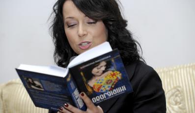 Katarzyna Pakosińska na promocji swojej książki