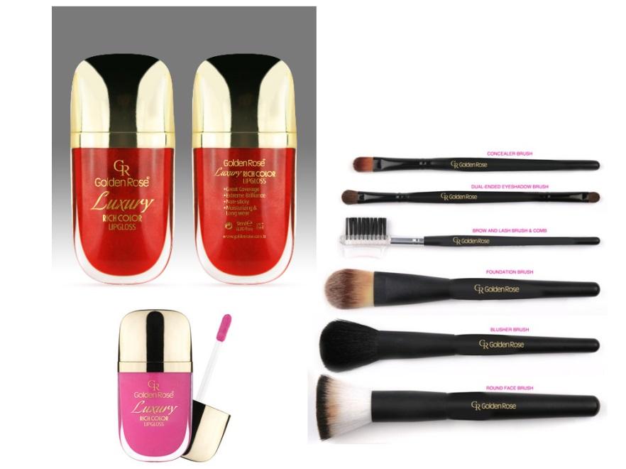 Kosmetyki użyte do makijażu w grafikach