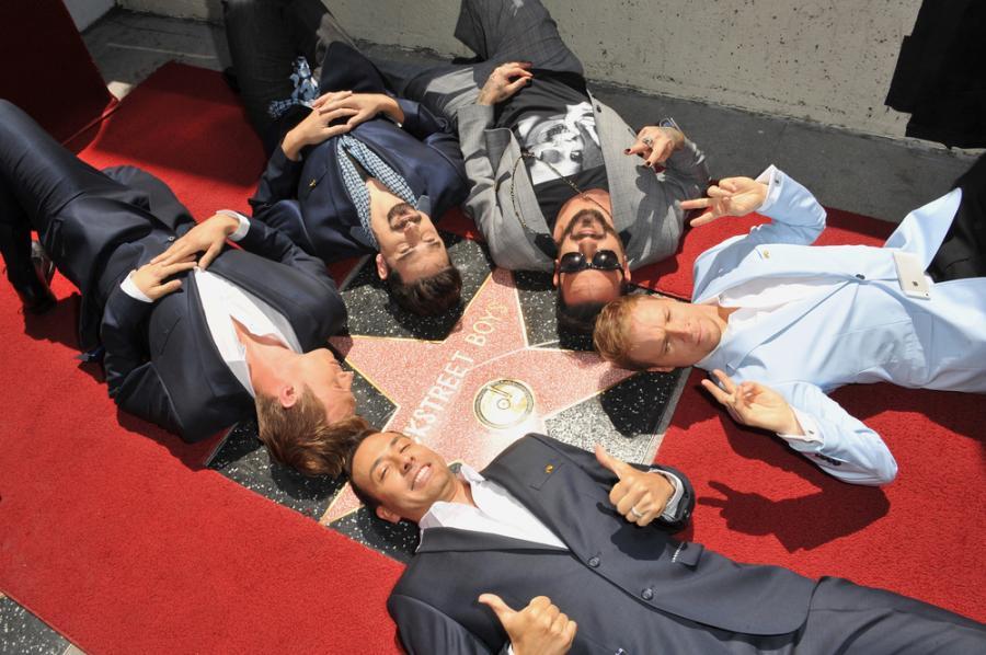 The Backstreet Boys w Aleji Gwiazd w Hollywood – kwiecień 2013 roku
