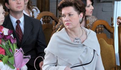 "Agnieszka Kotulanka w serialu ""Klan"""