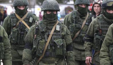 Rosyjscy nieoznakowani żołnierze na Krymie