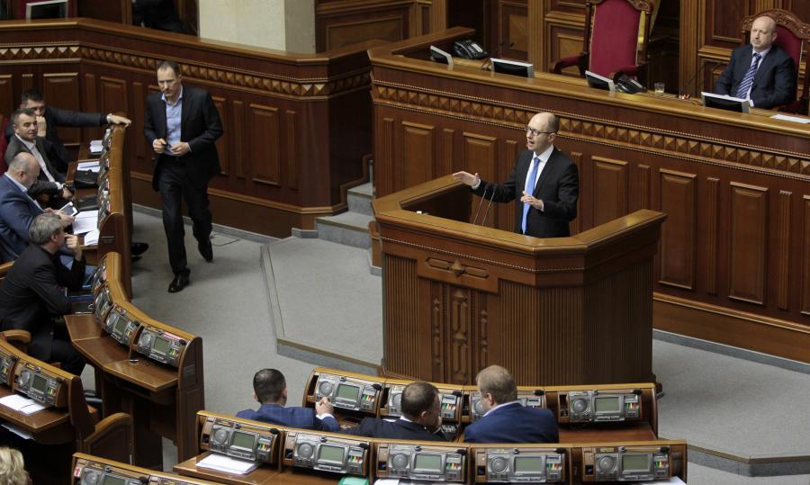 Arsenij Jaceniuk w ukraińskim parlamencie