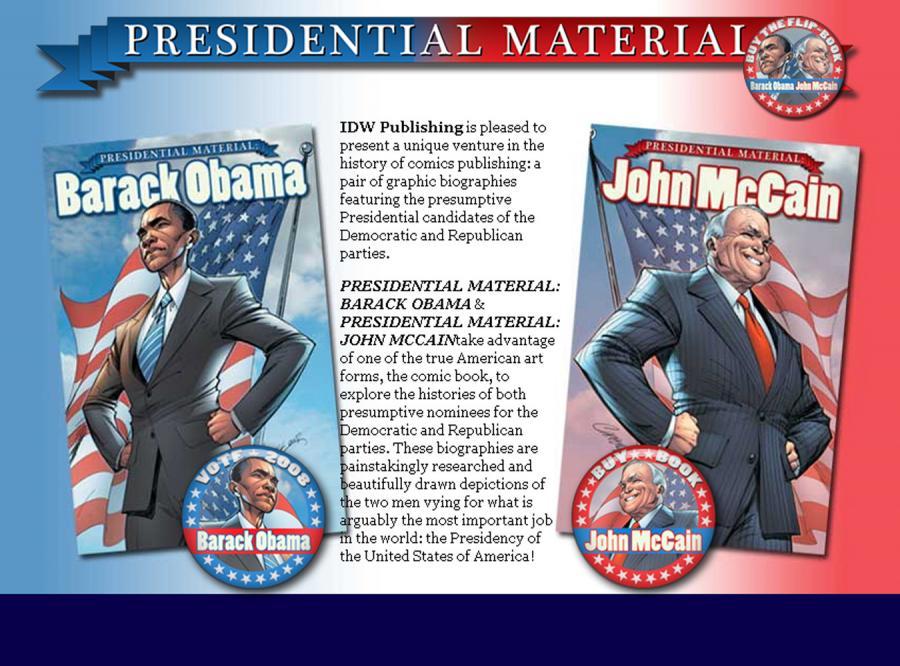 Obama i McCain jak superbohaterowie