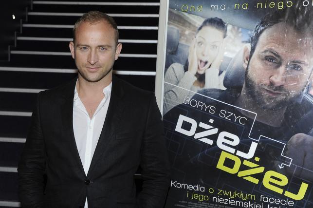 """Borys Szyc na premierze filmu """"Dżej Dżej"""""""