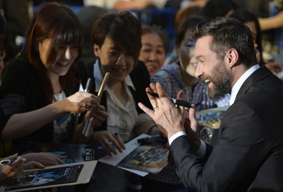 """Hugh Jackman na tokijskiej premierze """"X-Men: Przeszłość, która nadejdzie"""""""