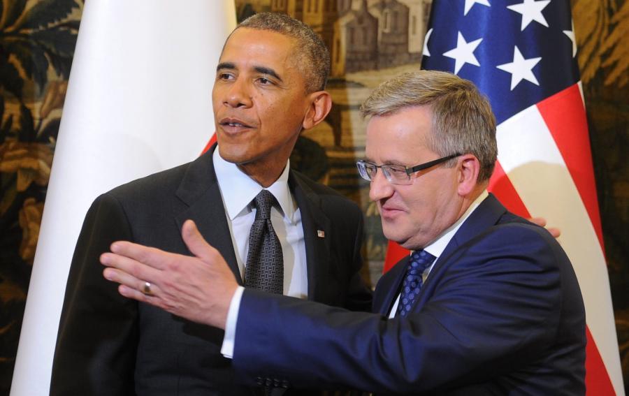 Prezydent Bronisław Komorowski oraz prezydent Stanów Zjednoczonych Barack Obama