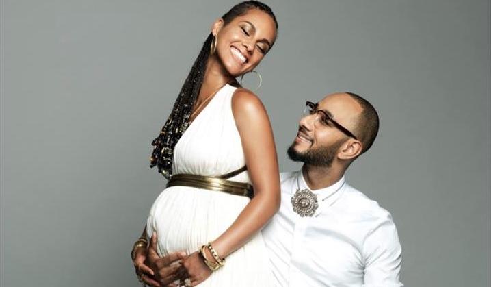 Alicia Keys i Swizz Beatz na pamiątkowym zdjęciu