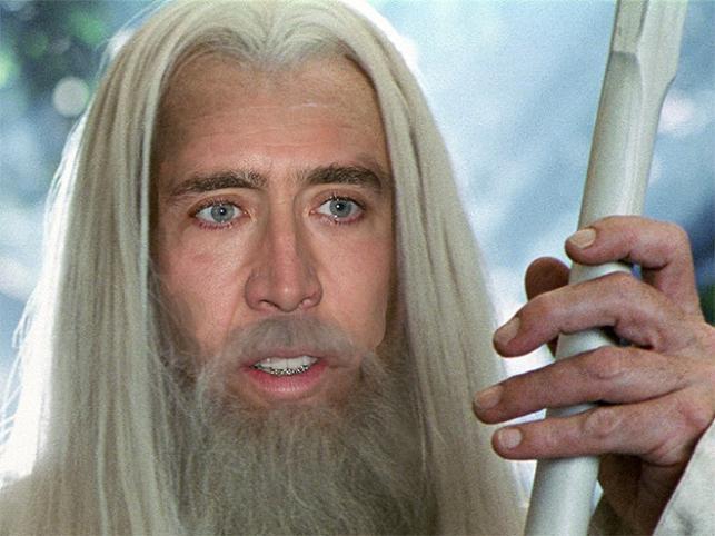 Nicolas Cage może być każdym. I Potterem i Gandalfem!