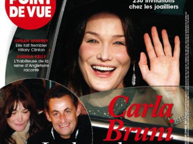 Sarkozy spotyka się z piosenkarką Carlą Bruni