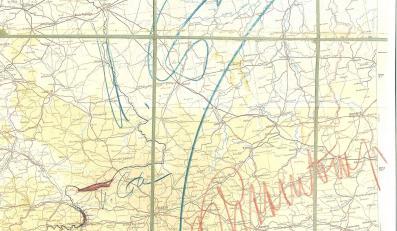 Mapa podziału Polski podpisana przez Stalina