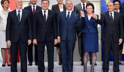 Ewa Kopacz z ministrami