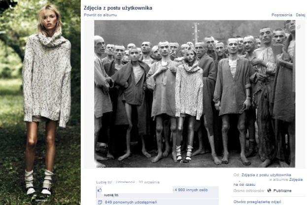 Anja Rubik / Zdjecie z sesji dla Vouge\'a oraz screen z profilu Bogdana Krzemińskiego