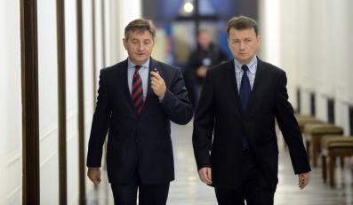 Marek Kuchciński i Mariusz Błaszczak z PiS