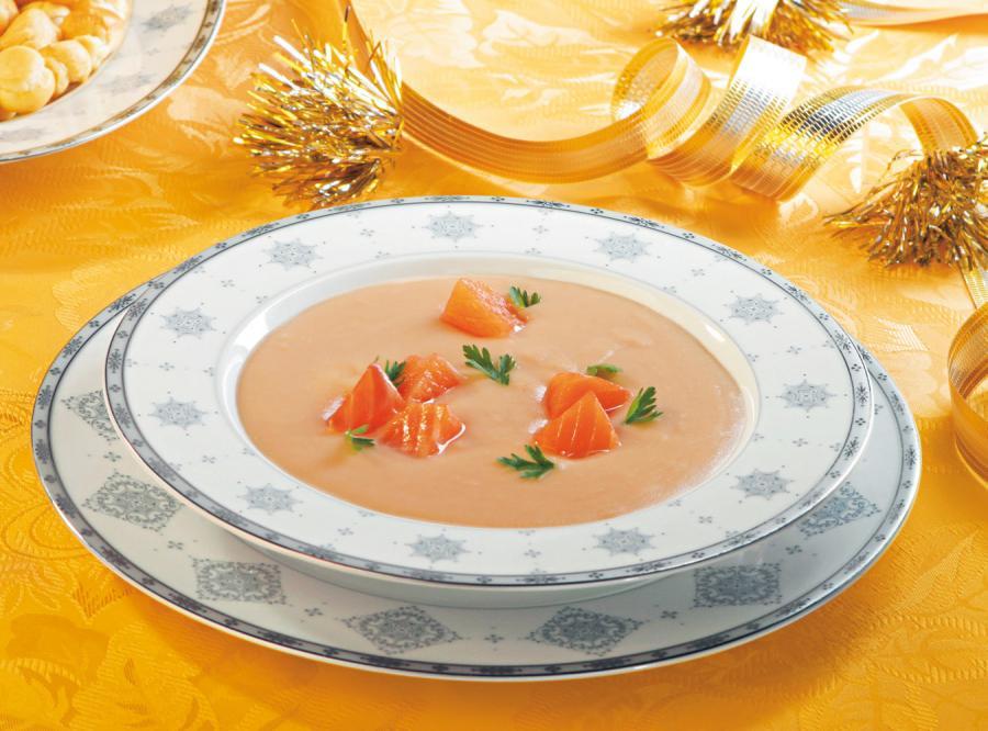 Kremowa zupa z łososia