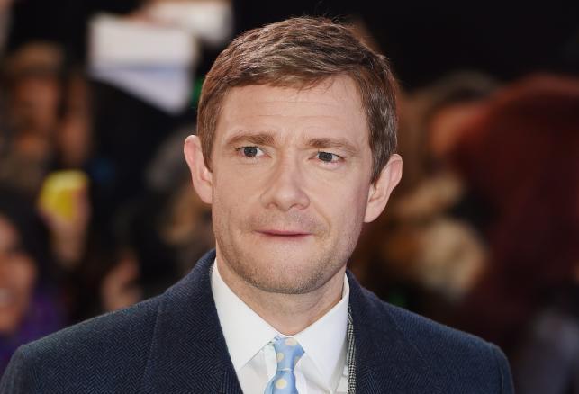 Martin Freeman na premierze w Londynie
