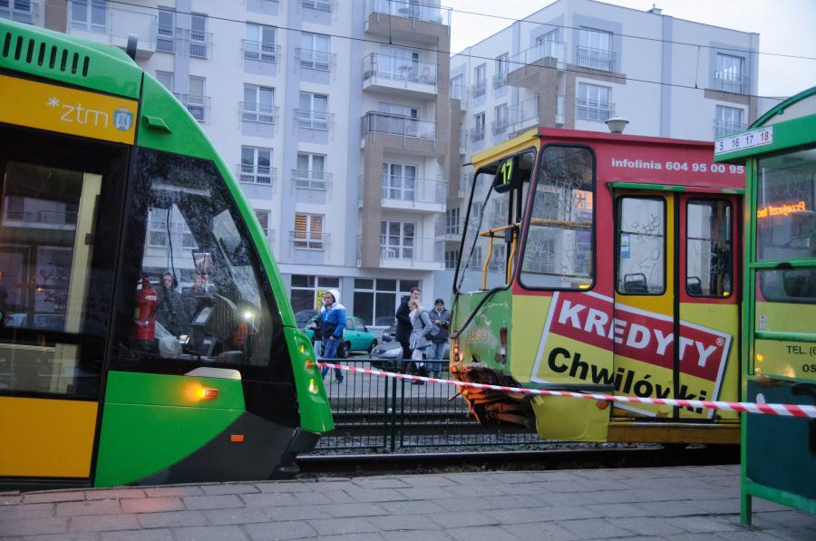 Zderzenie tramwajów w Poznaniu