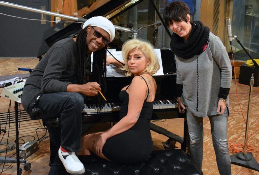 Lady Gaga z Nile\'em Rodgersem i Diane Warren