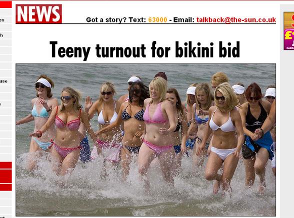 Tak się skończyło bicie rekordu w bikini