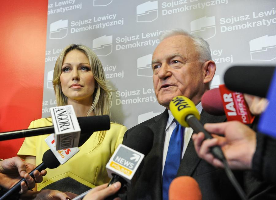 Leszek Miller i Magdalena Ogórek