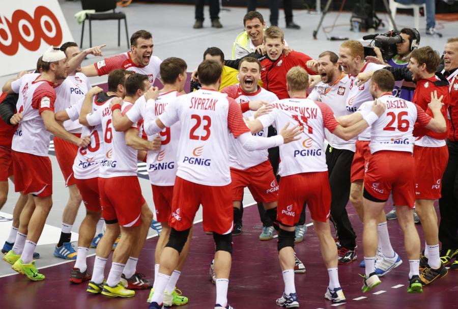 Polska drużyna po zwycięstwie