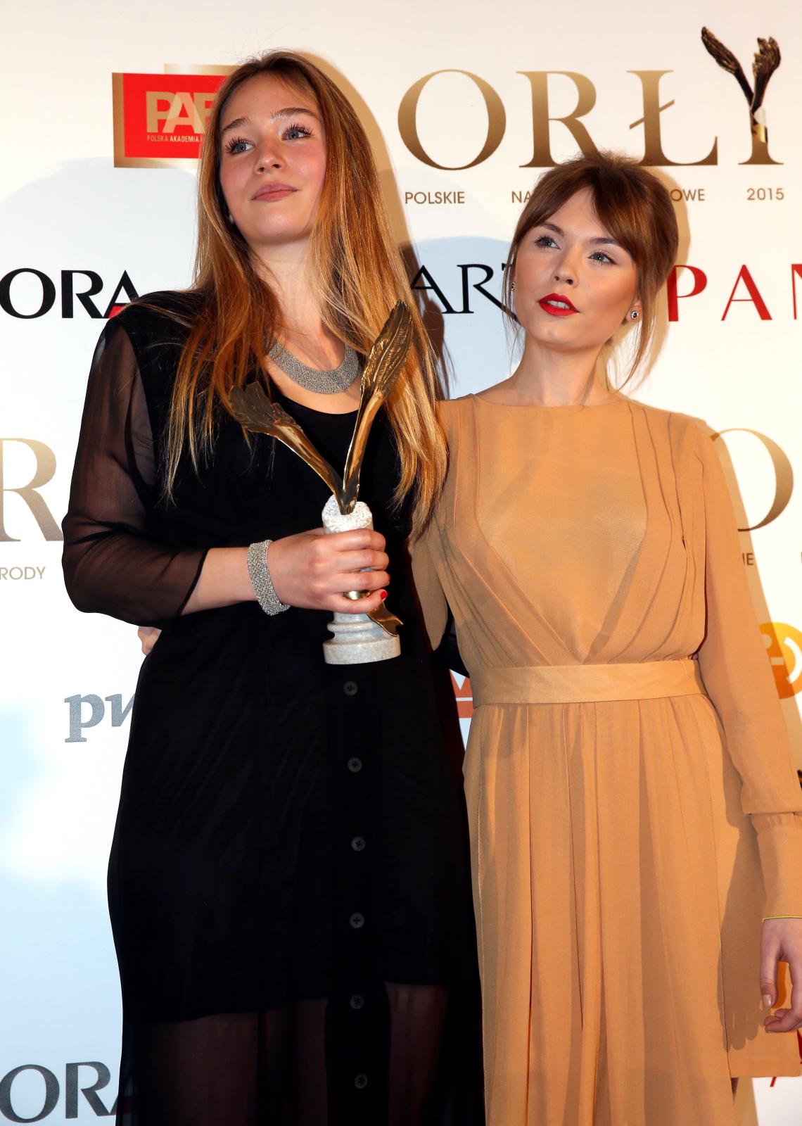 Orły 2015: Zofia Wichłacz (a z nią Agata Trzebuchowska)