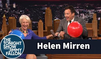 Helen Mirren w programie Jimmy'ego Fallona