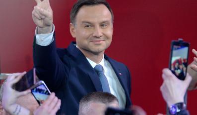 Andrzej Duda w sztabie wyborczym