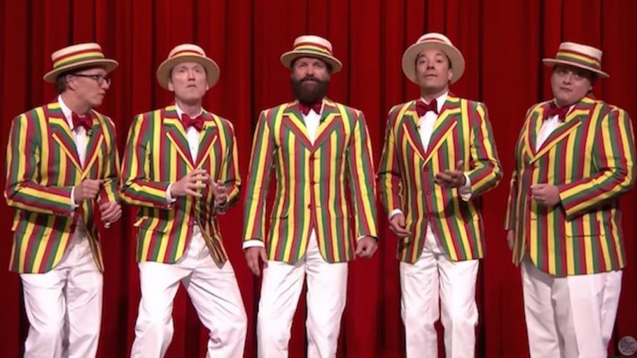 Sting z The Ragtime Gals w talk show Jimmy\'ego Fallona