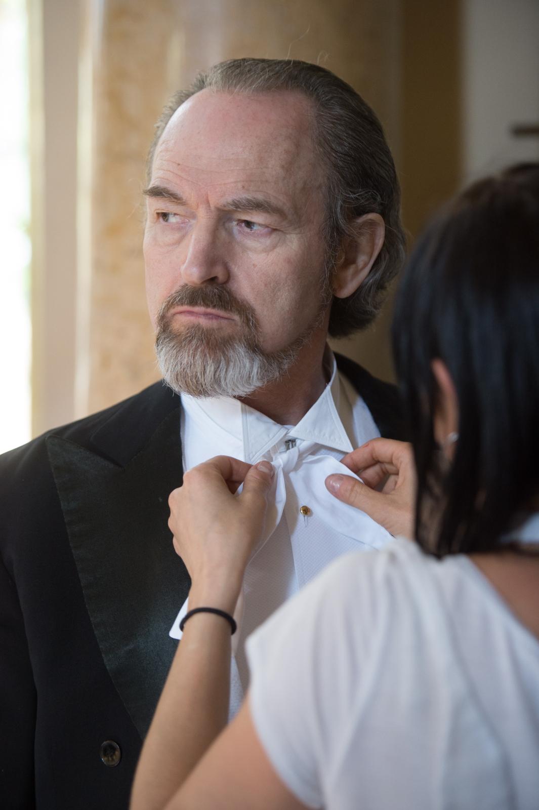 """Francuski aktor André Wilms na planie filmu """"Maria Curie"""""""