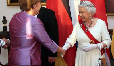 Angela Merkel i Królowa Elżbieta II