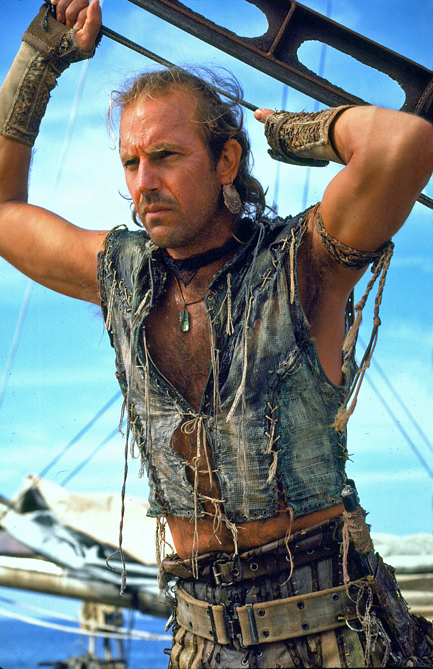 """Kevin Costner w filmie """"Wodny świat"""""""