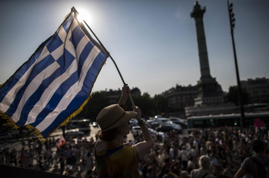 Manifestacja w Atenach