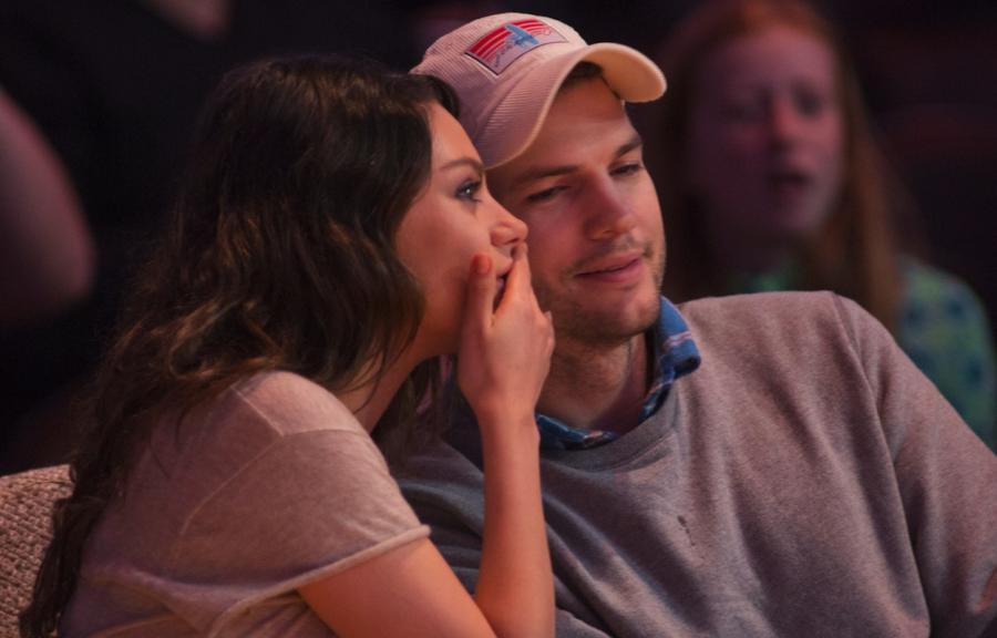Ashton Kutcher i Mila Kunis po ślubie