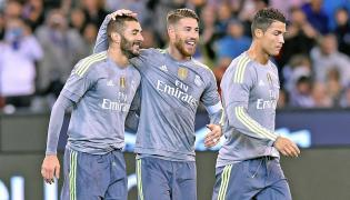 Karim Benzema, Sergio Ramos i Cristiano Ronaldo