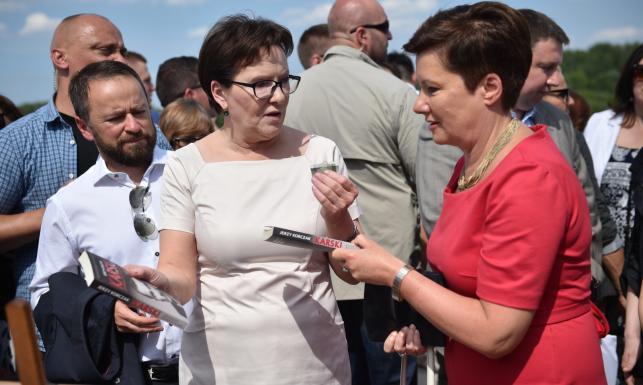 Ewa Kopacz i Hanna Gronkiewicz-Waltz zwiedzają nowy bulwar nad Wisłą. ZDJĘCIA