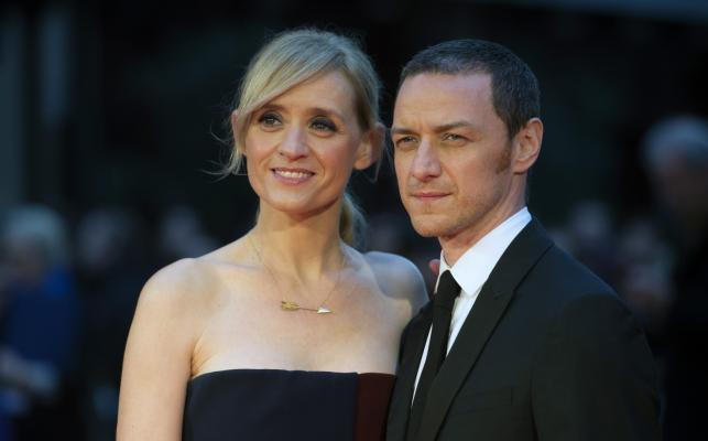 """Anne Marie Duff i jej mąż James McAvoy na premierze """"Sufrażystki"""" w Londynie"""