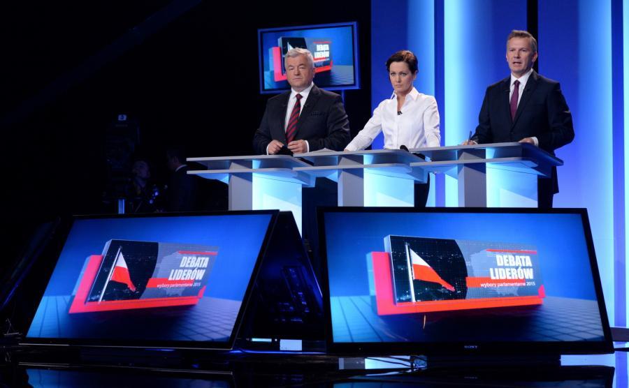 Studio Telewizji Polskiej na dwie godziny przed rozpoczęciem debaty