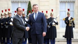 Francois Hollande i Andrzej Duda