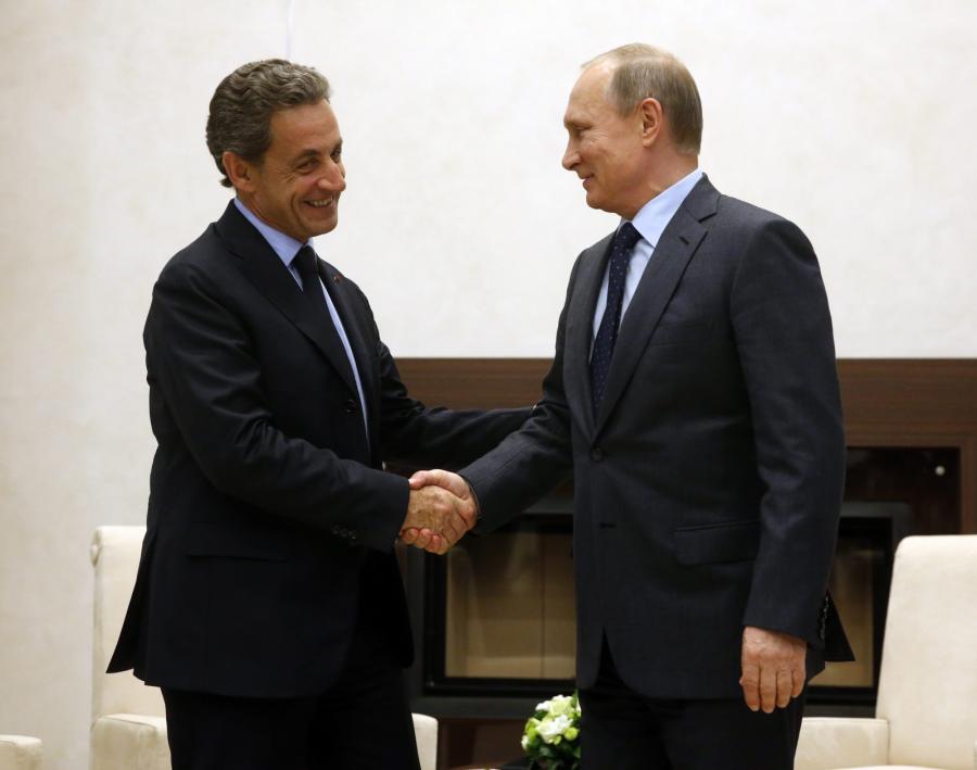 Nicolas Sarkozy i Władimir Putin