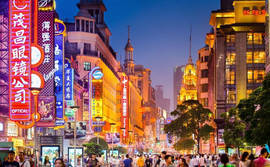 Ulica handlowa w Szanghaju