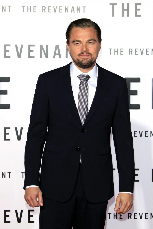 """Leonardo DiCaprio na premierze """"Zjawy"""""""