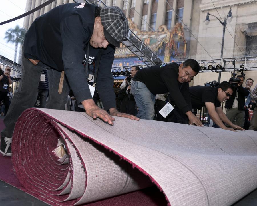 Słynny, czerwony dywan już rozwinięty...