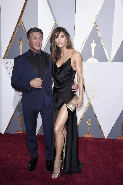 Sylvester Stallone i Jennifer Flavin na Oscarach